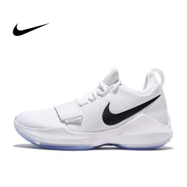 NIKE PG 1 EP CHECKMATE 全白 黑勾 白黑 透明底 籃球鞋 878628-100