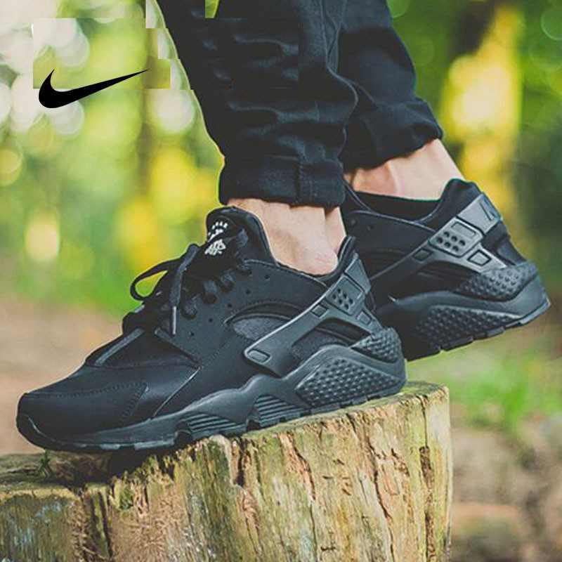 Nike Air Huarache 武士鞋 黑武士 休閒 網面 318429-003 情侶鞋