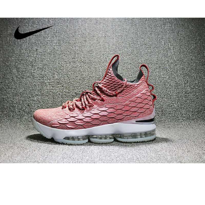 Nike LeBron 15 LBJ15 詹姆斯15代男子籃球鞋 淺紅 897648-600
