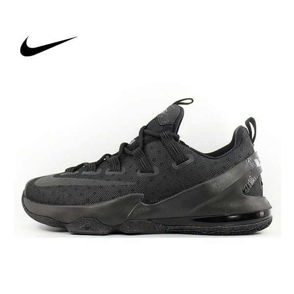 Nike LeBron XIII Low EP 13 全黑 低幫 氣墊 減震 黑武士 籃球鞋 男 831926-001
