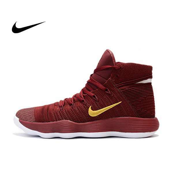 Nike React Hyperdunk Flyknit 酒紅 籃球鞋