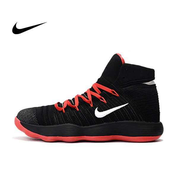 Nike React Hyperdunk Flyknit 黑紅 籃球鞋 男款