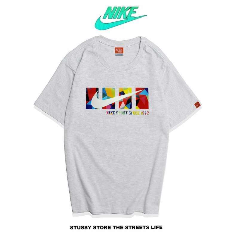 Nike Futura Icon Logo Tee 彩色字勾 基本款 運動 男款 灰色