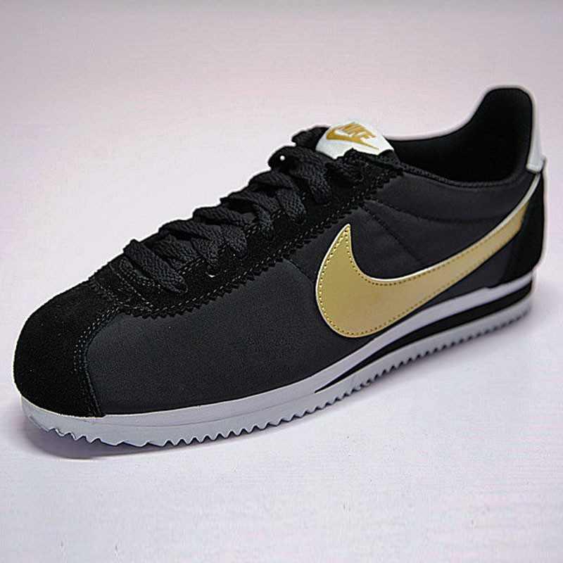 男鞋 Nike Classic Cortez 阿甘 百搭 慢跑鞋  黑白金 807471-012