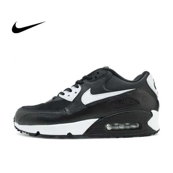 NIKE WMNS AIR MAX 90 ESSENTIAL 黑白 皮革 網面 經典 氣墊 復古慢跑鞋 男女鞋 616730-023