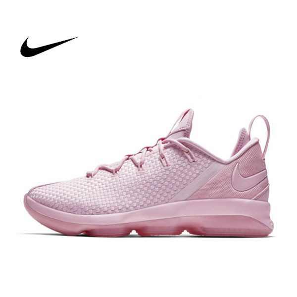 NIKE LEBRON 14 LOW 粉紅 編織 低筒 籃球鞋 男 878635-300