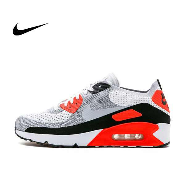 Nike Air Max 90 Ultra 2.0 Flyknit 紅灰 男鞋 875943-100 藍黑 男鞋 875943-400