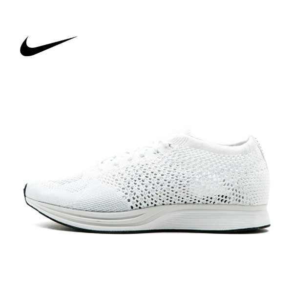 Nike Flyknit Racer Goddess 雪花 編織 雪白 全白輕量 男鞋 526628 100