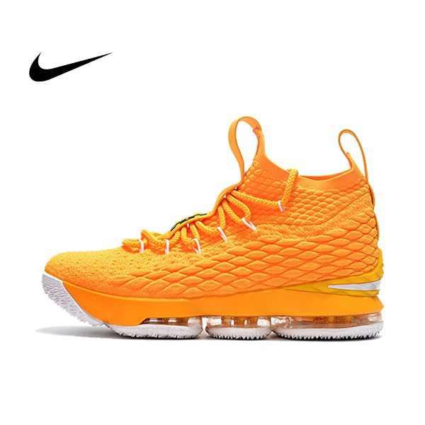 NIKE Lebron LBJ15代 黃 女鞋 飛線 籃球鞋