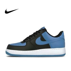 64bce277829399d4 300x300 - NIKE Air Force 1 AF1 黑藍 Royal Blue 情侶鞋 皮革820266-010