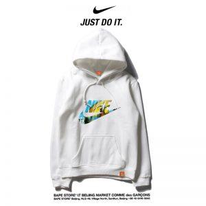 67d949105afbd628 300x300 - Nike 薄款 百搭帽t 寬鬆 長袖 套頭 衛衣 情侶款 純白