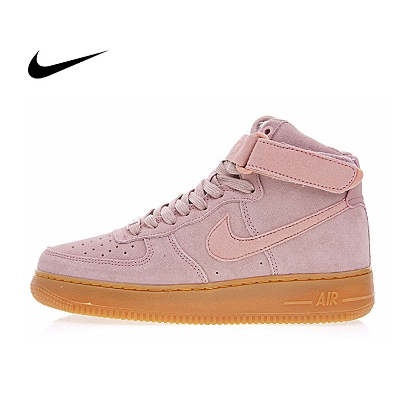 Nike Air Force 1 High  07 LV8 Suede 高筒 麂皮 豆沙粉 AA1118-601
