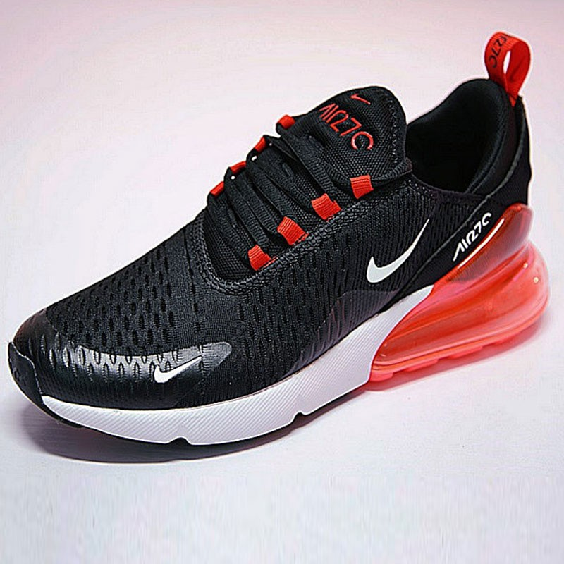 男女鞋 Nike Air Max 270系列後跟半掌氣墊慢跑鞋  白黑月蘭底 AH8050-001