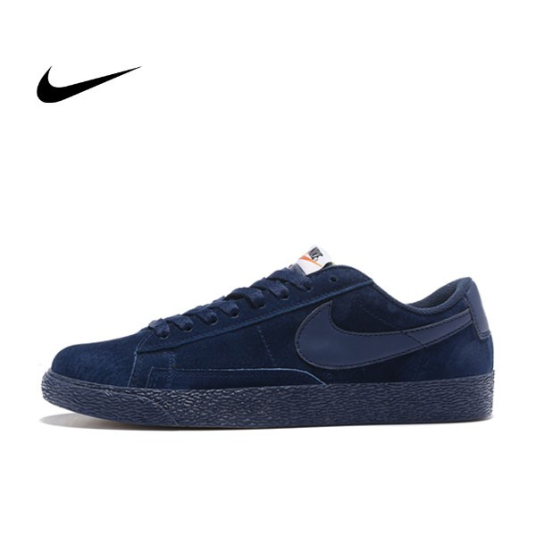 NIKE BLAZER LOW 麂皮 防滑 深藍 情侶鞋 443603-601