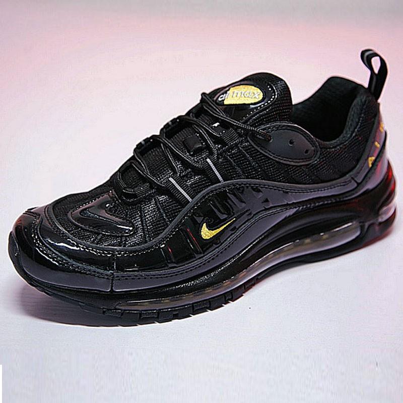 男鞋 Nike Air Max 98 復古 氣墊 百搭 慢跑鞋 黑黃 640744-080