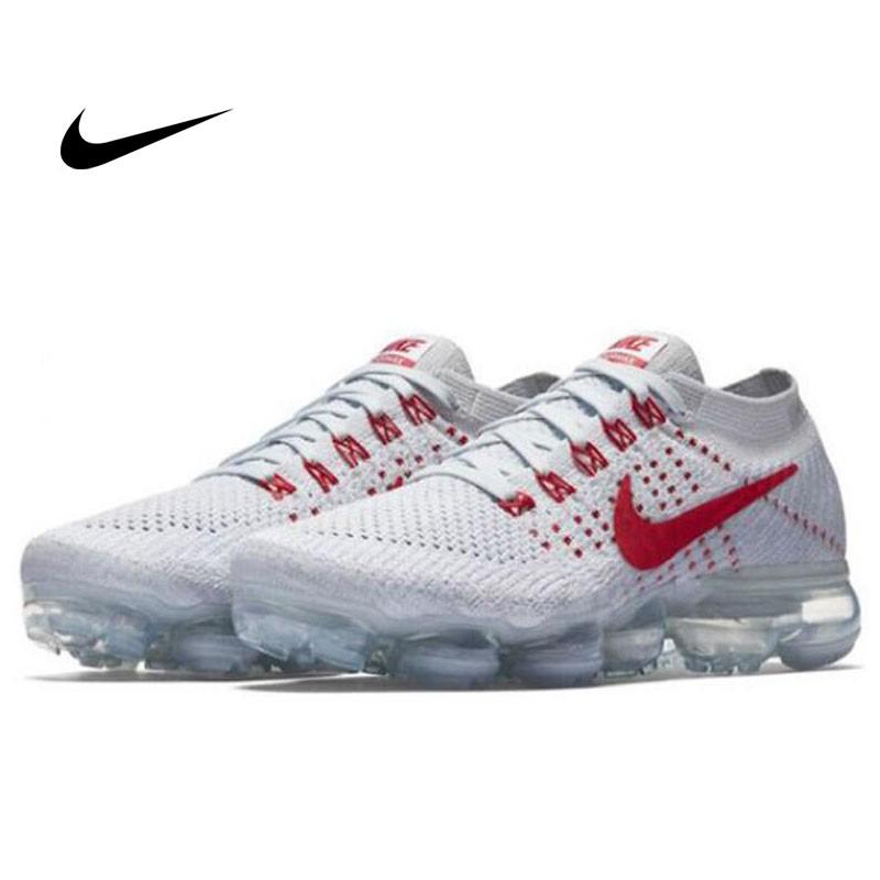 Nike Air VaporMax Flyknit Pure Platinum 紅白 情侶鞋 熱門款849558-006