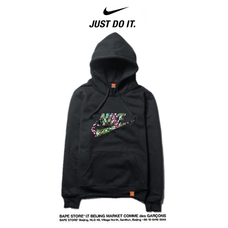 Nike 2018春秋薄款 寬鬆 長袖 連帽衛衣 套頭 休閒 情侶款