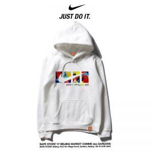 74a2db58fbefb998 300x300 - Nike 2018春秋薄款 衛衣 寬鬆 長袖 套頭 情侶款 白色 創意logo