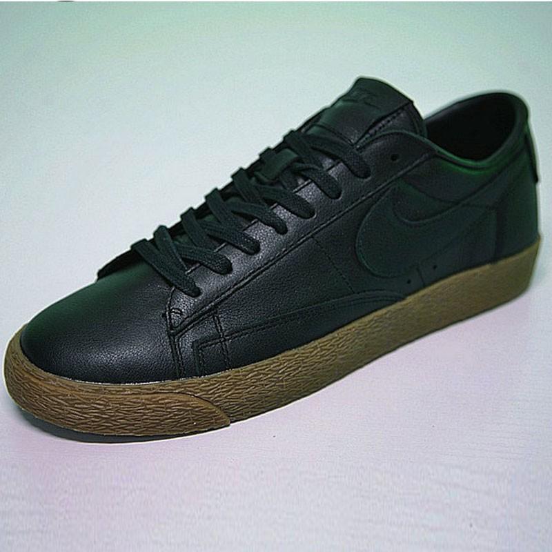 Nike Blazer Low 經典 百搭 板鞋 系列 黑黃 情侶鞋 AJ3733-991