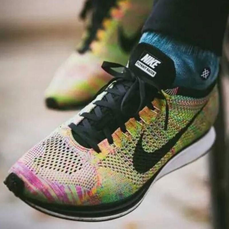Nike Flyknit Racer 彩虹 3.0 multicolor rainbow 526628 004 情侶鞋