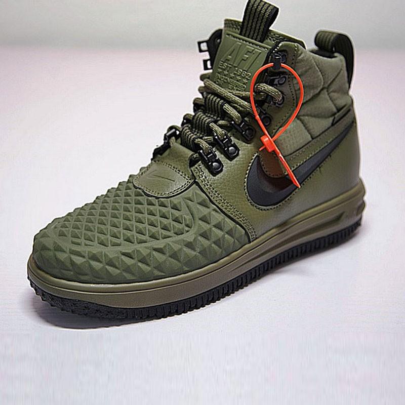 Nike Lunar Force 1 Duckboot 機能 防水 高筒靴 軍綠黑 922807-202