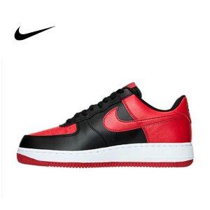 7662f268fe3c61b7 300x300 - NIKE AIR FORCE 1 AF1 BRED 紅黑配色 櫻木 經典 公牛球鞋 情侶鞋 820266-009