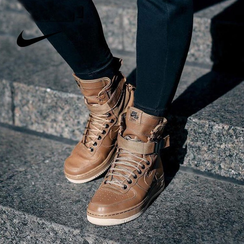Nike Special Forces Air Force 1 空軍一號機能高街特種部隊系列高筒鞋 深棕色 859202-339
