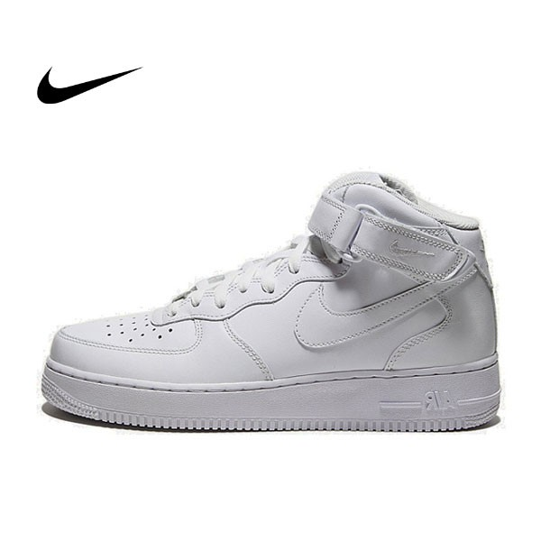 NIKE AIR FORCE 1 MID 冬季 情侶 全白 高筒 315123-111
