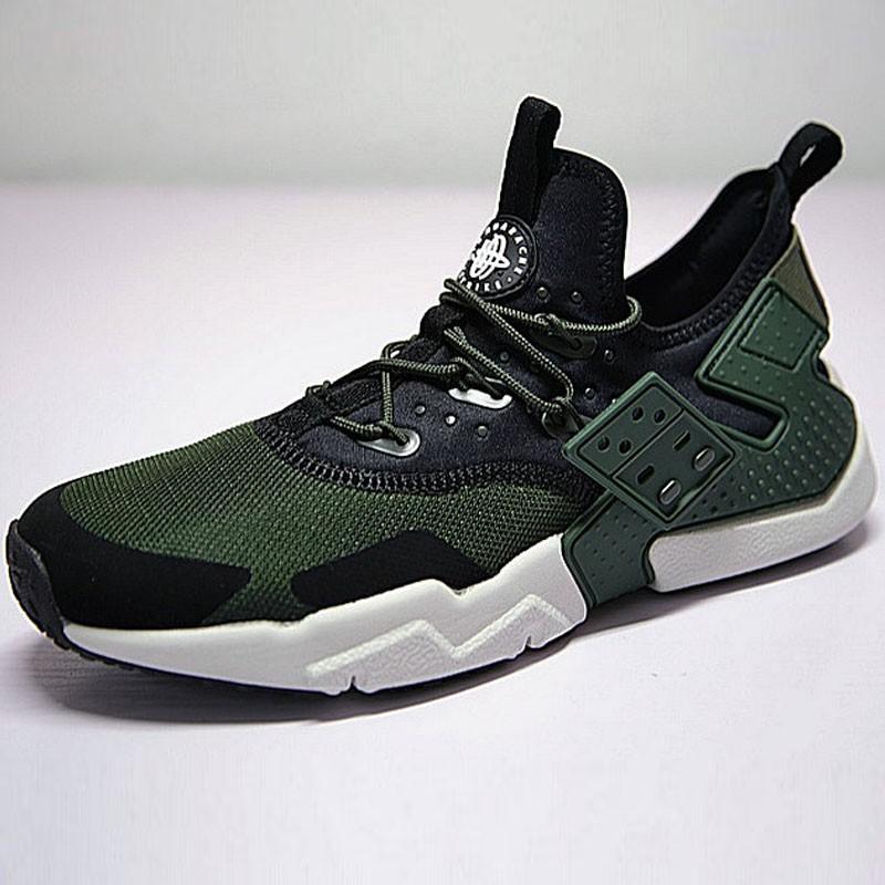 男鞋 Nike Air Huarache Drift Prm 漂移6代 慢跑鞋 網面軍綠黑 AH7334-300