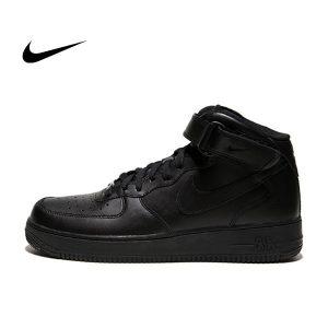 78898cf494274724 300x300 - NIKE AIR FORCE 1 MID 軟皮 全黑 魔鬼氈 原版 情侶鞋 315123-001