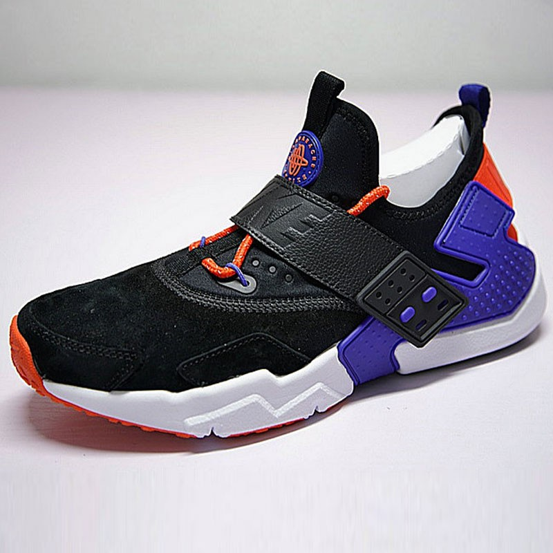 情侶鞋 Nike Air Huarache Drift Prm 6代  黑藍 橘紅 AH7335-002