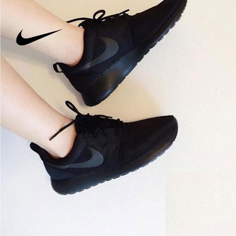 NIKE ROSHE ONE 844994 全黑 細網 情侶鞋
