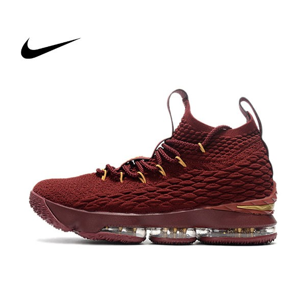 NIKE Lebron LBJ15代 酒紅金 女鞋 飛線 籃球鞋