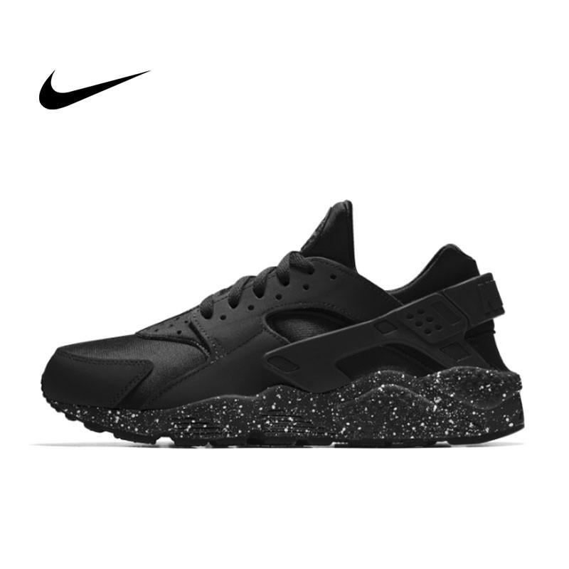 NIKE AIR HUARACHE RUN Triple Black 一代黑武士 運動鞋 黑魂 休閒鞋 慢跑鞋 情侶 黑潑墨