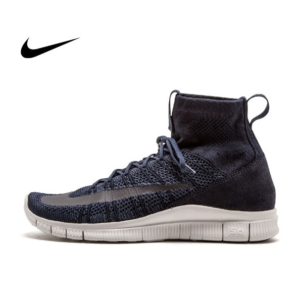 NIKE FREE FLYKNIT MERCURIAL HTM深藍 高筒 呂布 男鞋 667978-441
