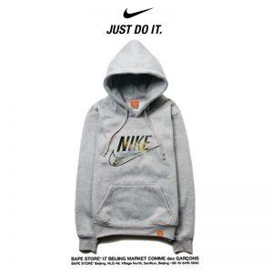 897a73b626b898bd 300x300 - Nike 薄款 衛衣 寬鬆 長袖 套頭 情侶款 灰色 簡約字勾