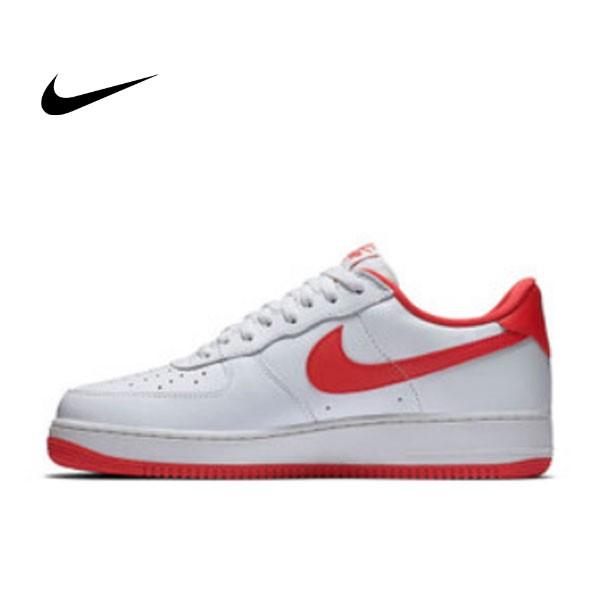 NIKE AIR FORCE 1 AF1 空軍 百搭 紅底 滑板鞋 情侶鞋 845053-100