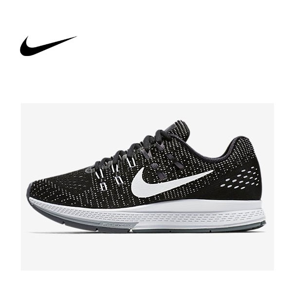 Nike Air Zoom Structure 19 黑白 黑灰 編織 情侶 慢跑鞋 806584-001