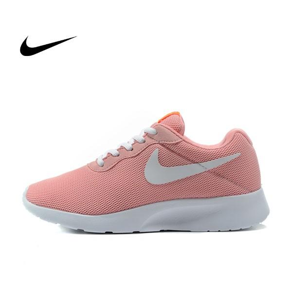 WMNS NIKE TANJUN 慢跑鞋 休閒鞋女 淺紅 粉紅 粉橘紅 白勾 812655