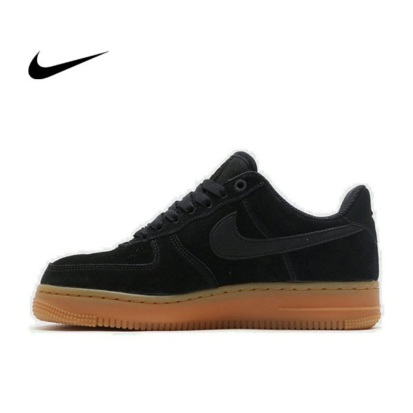 NIKE AIR FORCE1 07 SUEDE 黑色 AF1 膠底 麂皮 情侶鞋 AA0287-002