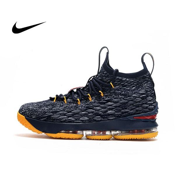 NIKE Lebron LBJ 15代 黑黃 女鞋 飛線 籃球鞋