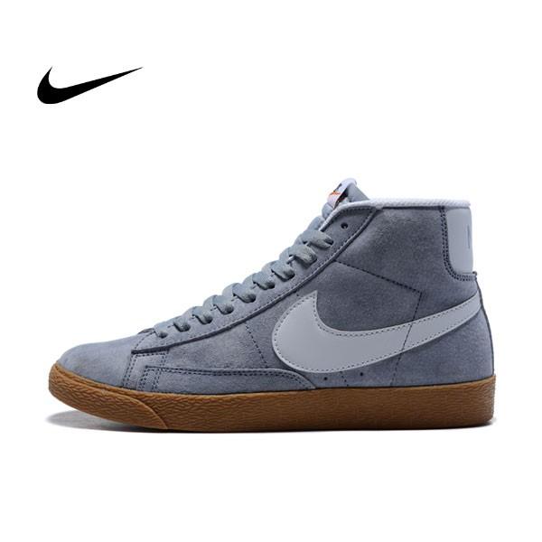 NIKE BLAZER LOW PRM VNTG 復古 灰白 麂皮 防滑 情侶鞋
