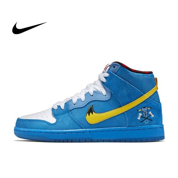NIKE DUNK HIGH PREMIUM SB 藍色麂皮 紋理 高筒 聯名鞋款 男 313171-471