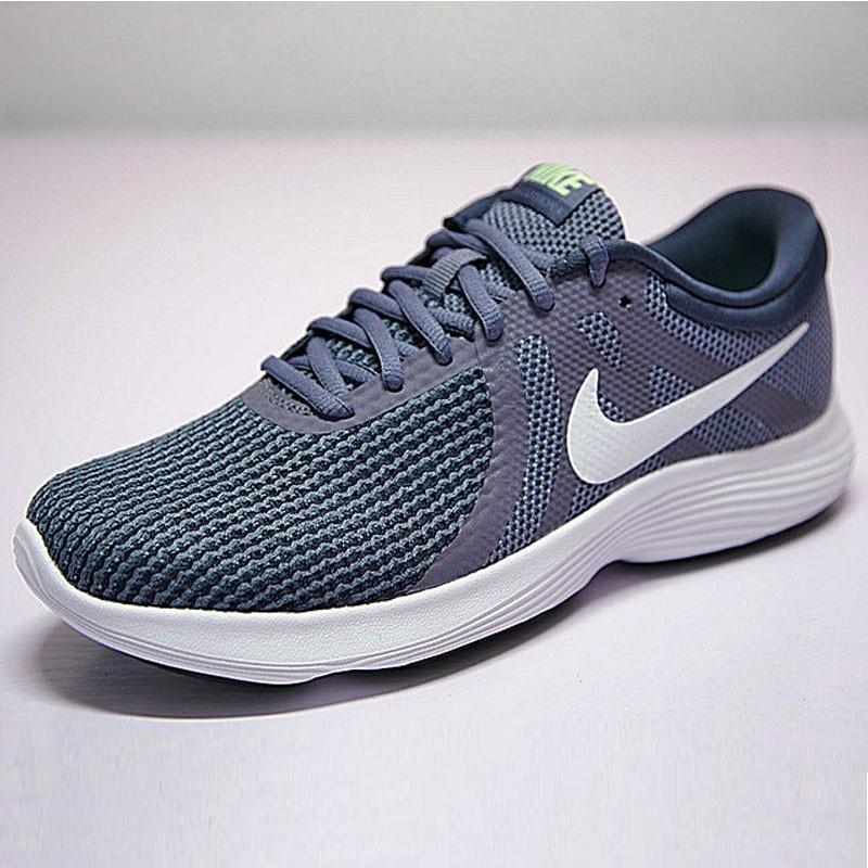 NIKE Revolution 4 網面 緩震 輕便 運動 休閑 跑步鞋 革命 系列 冷藍白勾 908988-004