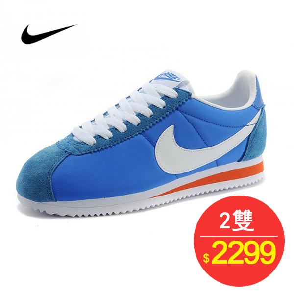 情侶鞋 Nike Classic Cortez 經典 復古 藍白 桔紅 488291-404-