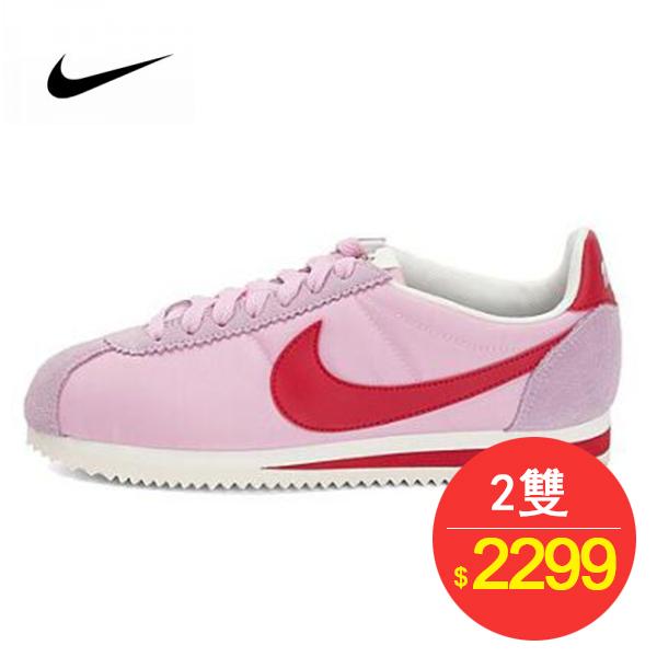 女鞋 Nike Classic Cortez 經典 復古 阿甘 百搭牛津布淺粉紅白 882258-601