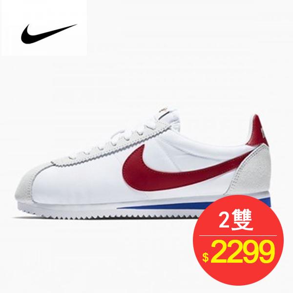 Nike Classic Cortez  阿甘 百搭  白灰 藍紅 354698-161