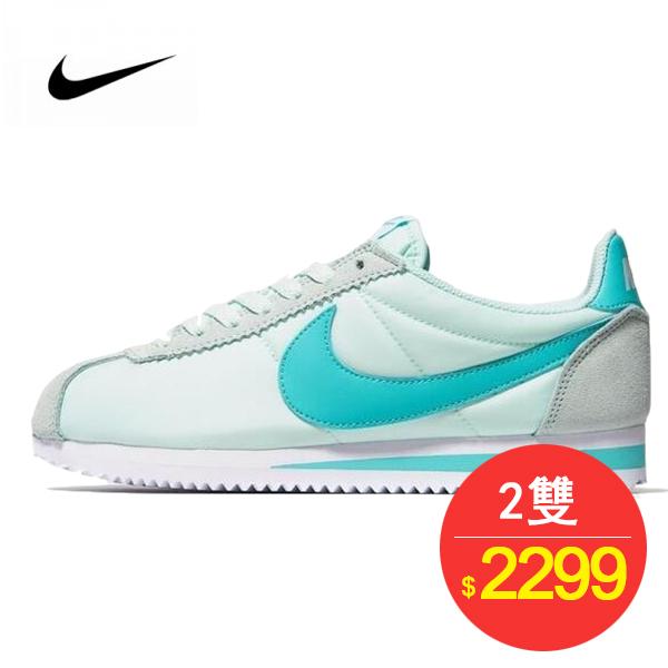 Nike Classic Cortez 百搭 慢跑鞋 薄荷淺綠白 749864-301