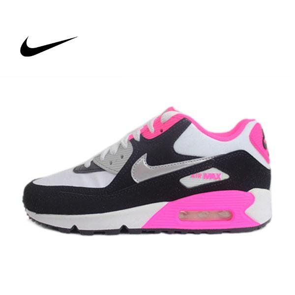AIR MAX 90 LEATERLTR 皮革 運動鞋 暗灰色/白色/粉色 女鞋 345017-122