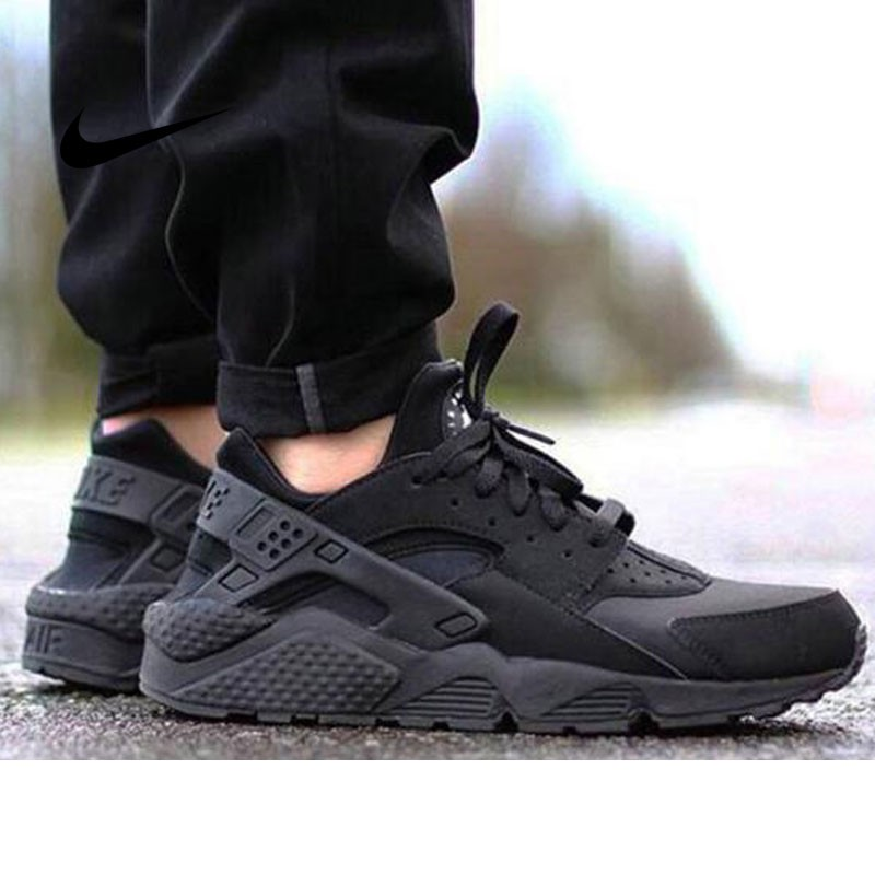 Nike Air Huarache All Black 情侶鞋318429 003
